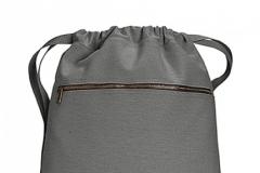 Pytlík zip šedý